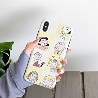 iPhone CASE-Cartoon Animation Mobile Phone Case Cute All-Inclusive Anti-Fall Protection Cover for Iphone6/6s (Color : White, Size : IPhoneX/XS)