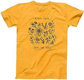 Cimeiee Womens Casual Free Mom Hug Rainbow Letter Print Short Sleeve Round Collar T Shirt