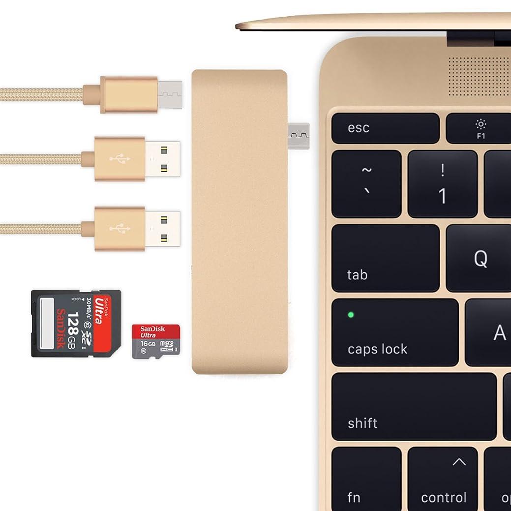 あなたは百年価値のないBatianda USBハブ Type-C Hub「5 in 1」Hub 高速USB 3.0ポート / USB-C 充電ポート / SD / TFカードリーダー アルミニウム合金仕上げ コンパクト 多機能 薄型軽量 12インチ MacBook /new MacBook Pro 13 15 2016 2017 2018 2019 / ChromeBook Pixel/HuaWer Matebook対応 (ゴールド)