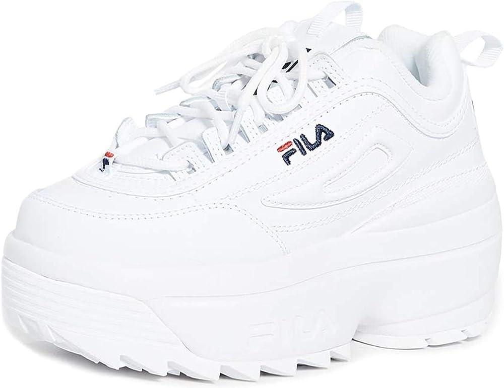 Fila, disruptor ii wedge, scarpe da ginnastica da donna sneaker casual da donna 1010865-1FG_37