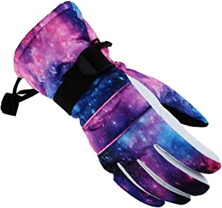 KINDOYO Ski Gloves Men - Winter Warm Snow Gloves Waterproof Windproof Outdoor Cold Weather Gloves for Skiing Snowboarding