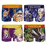 Freegun – Lote de 4 bóxers para hombre Dragon Ball Z, Pack Tgkc, S
