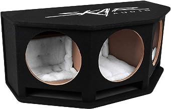 """$199 » Skar Audio SK3X12V Triple 12"""" Universal Fit Ported Subwoofer Enclosure with Angled Rear Firing Design"""