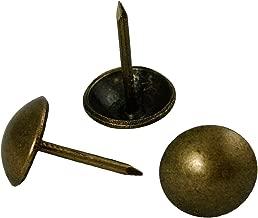 decotacks 500 PCS Antique Brass Finish Upholstery Nails, Furniture Tacks, French Natural Thumb Tack Push Pin, 7/16