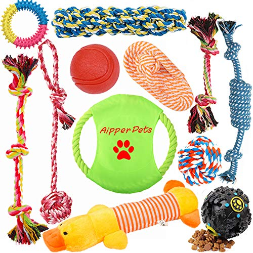Aipper Dog Puppy Toys 12 Pack, Puppy Chew Toys for...