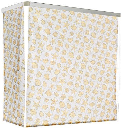 ECO-DuR 4024879007560 Kassetten ECK Duschrollo 137 x 62 cm silber - Muschel gelb