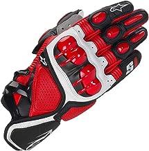 S1 Guantes de Cuero para Moto Anti-caída Antideslizante Respirable Guantes Llenos de Dedos para Equitación al Aire Libre, Equipamiento Profesional de Carreras