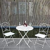 ZTBXQ FreizeitmöbelOutdoor-Möbel Terrassentisch und Stühle - Essbereich im Freien mit 2 Stühlen und 1 Tisch, Bistrotisch für Terrassenmöbel für Garten, Garten, Veranda, Balkon und Pool