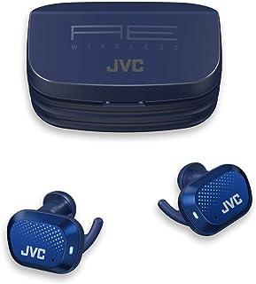 JVC HA-AE5TA Ae - Auriculares inalámbricos Deportivos con Bluetooth, 27 Horas de duración de la batería con Funda de Carga, Touch & Talk, Control de Sensor táctil, Impermeable IP55 (Azul)