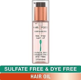 Sulfate Free Hair Oil, Dye Free Smoothing and Repairing Treatment, Tea Tree, Hair Food, 3.2 FL OZ