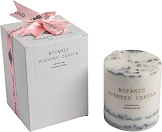 Botanical Scented Candles- Beautifully handmade With Natural Wax-Serene Moments (Juniper and Lavender)