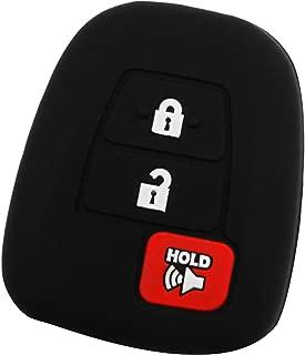 KeyGuardz Keyless Remote Car Key Fob Outer Shell Cover Soft Rubber Case for Toyota Scion Corolla Prius Tacoma HIghlander HYQ12BDM