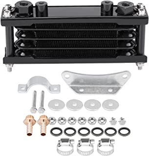 Universal Engine Oil Cooler Kit Motorcycle Oil Cooler Cooling Radiator for Motorbike Dirt Bike 50CC-200CC(Black)