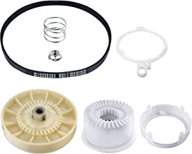 2 Pieces Washer Replacements Including 1 Piece W10721967 Washer Pulley Clutch Kit and 1 Piece W10006384 Washing Machine Drive Belt