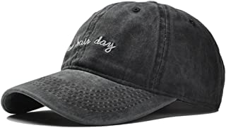 Vintage Distressed Bad-Hair-Day-Embroidery Baseball-Cap Dad-Hat - Unisex Washed Cotton Hat