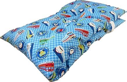 防災頭巾 幼児 小学生 低学年 新幹線チェック柄