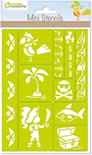 Avenue Mandarine Pirate Mini Stencils Set
