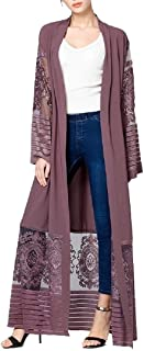Womens Fashion Comfy Open Front See Through Cardigan with Pocket