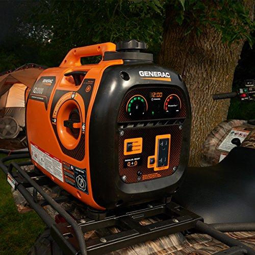 Generac 6866 iQ2000 Super Quiet 1600 Running Watts/2000 Starting Watts Gas Powered Inverter Generator - CARB Compliant