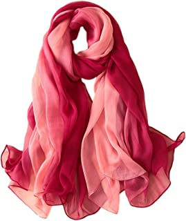 85823e0c6804 Copricostumi e Parei per Costume da Bagno Sciarpe Donna Estive Grande in  Chiffon Gradiente Scialle Foulard