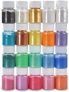 Mica Powder, DIY Slime Powder, Natural Powder Pigments, for Adhesive Pigments, Bath Bomb Dyes, Soap Making, Etc. (20Colors 10g/0.35oz Each)