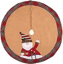 Christmas Home Decorations Xmas Tree Skirt Christmas Tree Mat Santa Pattern Tree Skirt Christmas Tree Skirt Seasonal Décor...