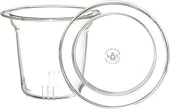 Teabloom Loose Tea Glass Infuser with Lid/Coaster - Turn Your Ordinary Mug Into a Tea Brewing Mug (Heatproof Glass)
