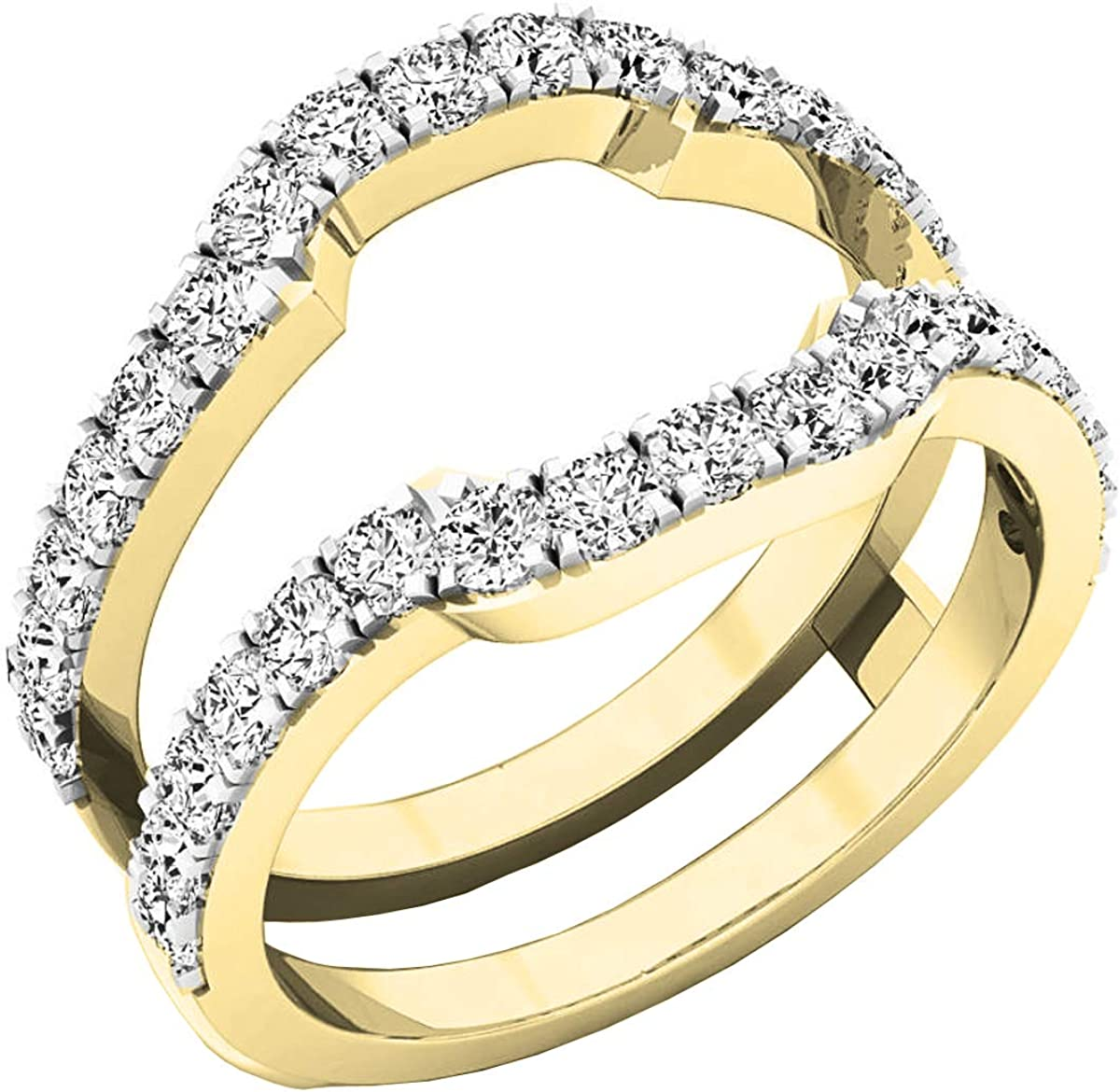 OFFicial mail order Dazzlingrock Collection Diamond Wedding Genuine Free Shipping Ring Guard Enhancer Band