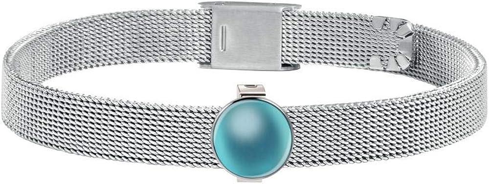 Morellato bracciale statement da donna in acciaio_inossidabile con charm di cristallo colorato verde acqua SAJT60