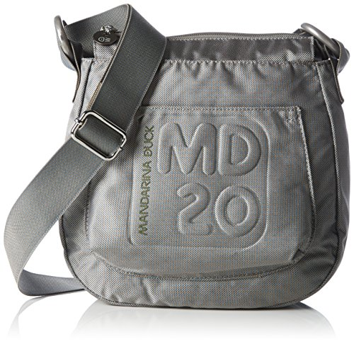 MANDARINA DUCK MD20 Small Crossover Vertical Hobobag Grey