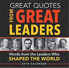 great quotes from great leaders 2018 calendar