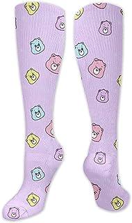 Yuanmeiju, calcetines de compresión elásticos para hombres, niños, calcetines hasta la rodilla de enfermería, de tubo alto