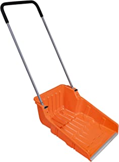 "Ivation Snow Pusher Scoop, Shovel with Wheels for Driveway, Sidewalk, 25"" Extra Large Capacity, Adjustable Heights & Easy ..."