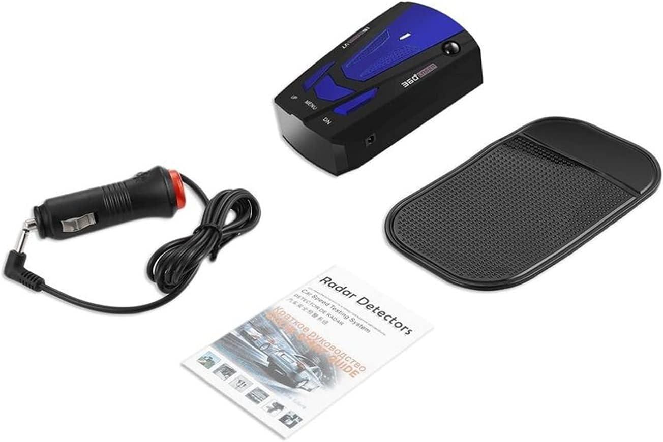 cjcaijun Detector GPS Detector de Radar de automóvil Auto 360 Grados VETHE VIR VIEZ Velocidad Alarma de Alerta de Voz Advertencia 16 Banda LED Pantalla Detector de Coches (Color Name : Blue)