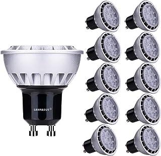 Lampaous® Bombilla LED GU10, 7 W, equivalente a 60 W, luz blanca cálida (3000 K), 600 lm, ángulo de haz de 60°, 10 unidades