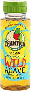Chantico Agave Sweetener (Wild Agave, 11.75oz Bottle) Organic Natural Sugar Substitute with a Low Glycemic Index and a Premium Food Taste - Stevia Alternative and Honey Replacement
