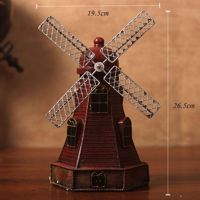 Windmill Model Decoration Coffee Shop Living Room TV Cabinet