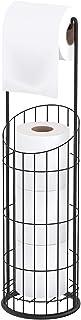Toilet Paper Holder, Extra Larger Free Standing Bathroom Tissue Holder for 4 Mega Rolls