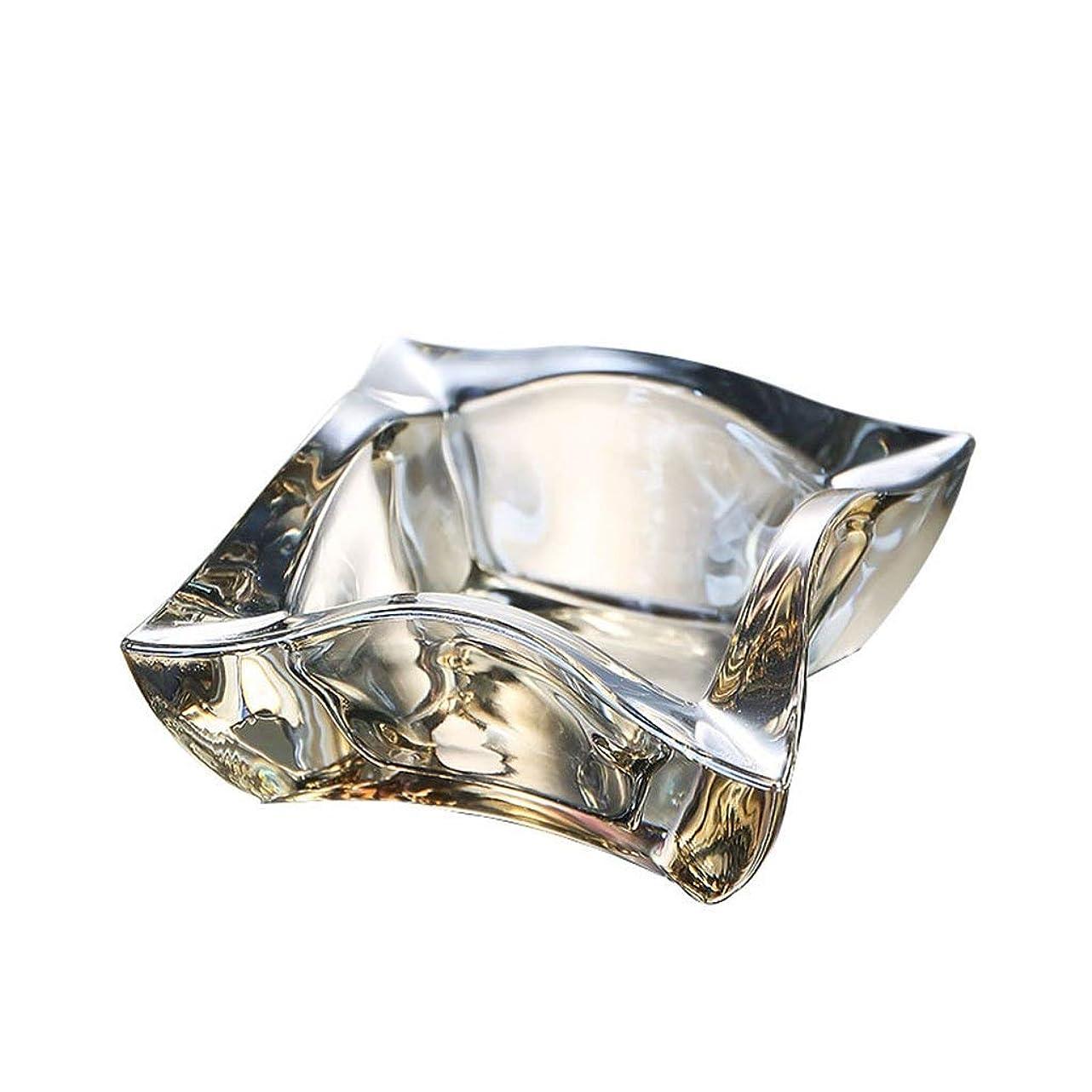 リボンブレークお客様TWDYC 灰皿クリエイティブオフィスリビングルームホテル人格トレンド多機能クリスタル透明ファッションガラス半透明ガラス