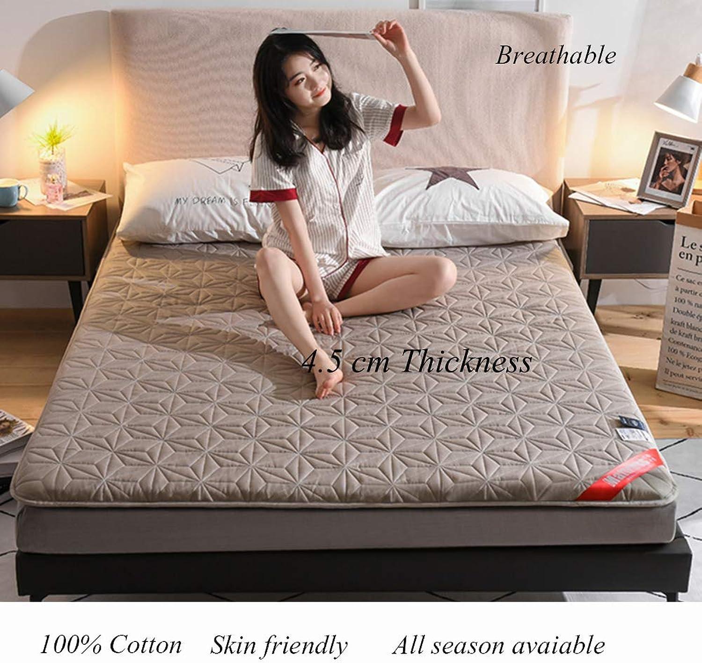 Cotton Floor Futon Mattress Mat, Foldable Japanese Matt Mat Breathable Sleeping Pad Quilted Mattress Topper for Student Dorm Bed-a 90x200cm(35x79inch)
