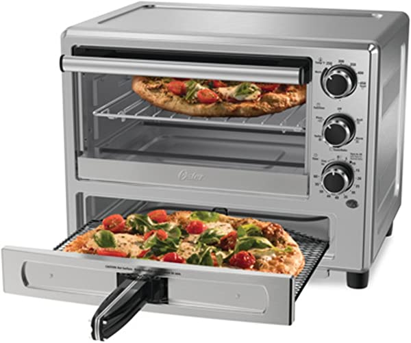 Oster Convection Oven With Dedicated Pizza Drawer Stainless Steel TSSTTVPZDS