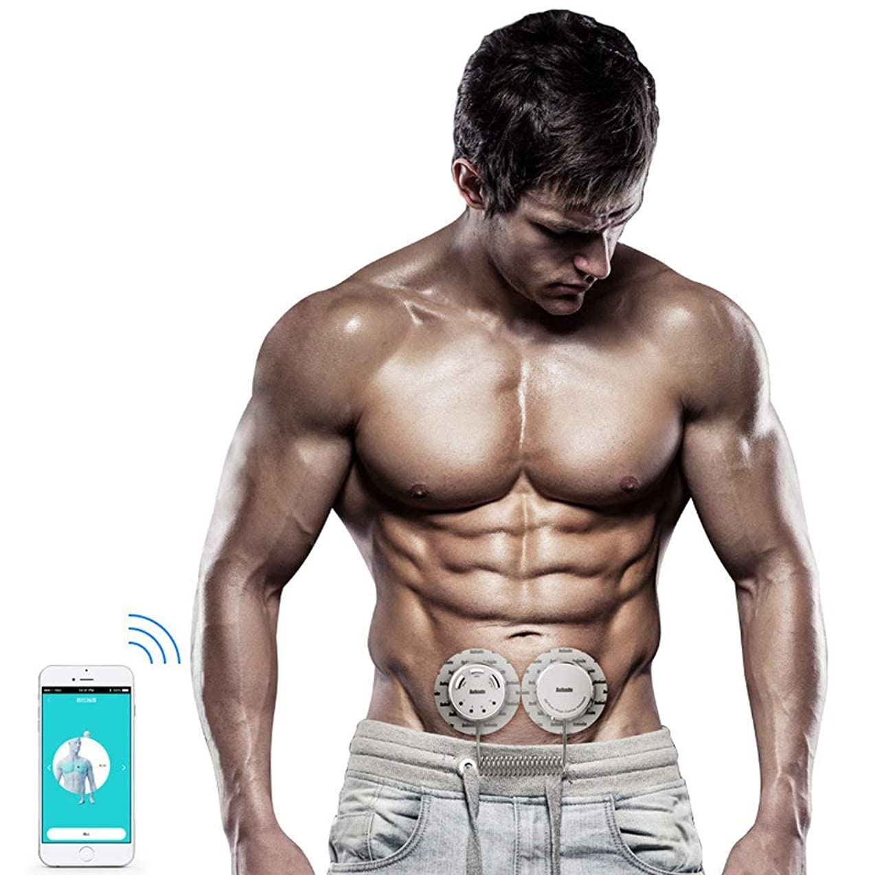 警報ギャザーカラスL.TSA Electric Stimulators Muscle Toner, Abdominal Adjustable Belt EMS Muscle Stimulator Men, Women