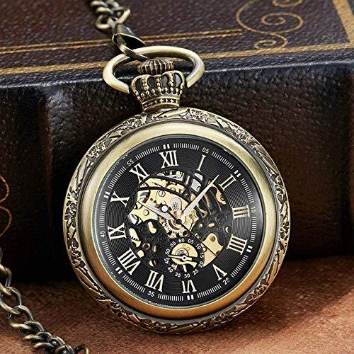 Zakhorloge gegepersonaliseerd brons mechanische winding horloge zonder batterij horloge mannen sliver Romeinse cijfers gegraveerd horloge geschenk wxxdlooa Mechanical Watch 1