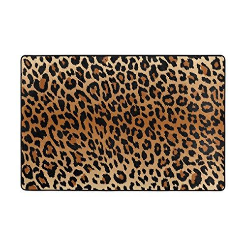 lianchenyi coolen Leopard Muster rutschfeste Fußmatte Bereich Teppich Teppich Fußmatten Fußmatte Indoor Outdoor Badezimmer 91,4x 61cm
