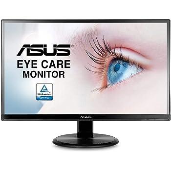 ASUS VA229HR - Pantalla para Ordenador (21 Pulgadas FHD, Pantalla IPS 16: 9 – 75 Hz, 5 ms, 1920 x 1080 cm, 250 CD/M2, HDMI y VGA, sin filtros, Incluye Altavoces y filtros de luz Azul) Negro: Amazon.es: Informática