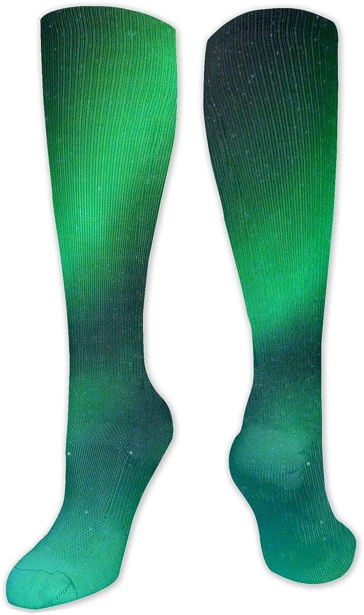 Shining Gypsophila Sky Aurora Night Knee High Socks Leg Warmer Dresses Long Boot Stockings For Womens Cosplay Daily Wear