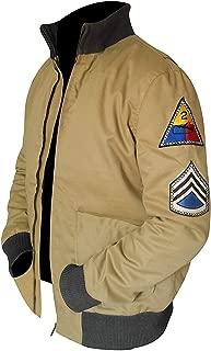 Men's Fury Tanker Jacket | Military Style German Bomber Cotton Jacket | Khaki Bomber Jacket