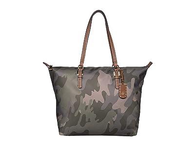 Tommy Hilfiger Julia Zippered Tote (Green) Handbags