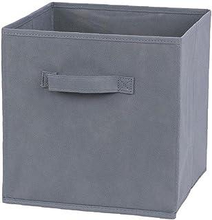 Tissu Panier Bin Boîtes De Rangement De Rangement Pliable Cubes Organisateur Avec Poignées Gris Boîte De Rangement Avec Co...
