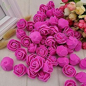 fake flowers artificial roses pe foam flowers roses flower head roses artificial flowers wedding decoration diy party festival home scrapbooking gift box diy wreath flower wall decor 50pcs (yellow) silk flower arrangements